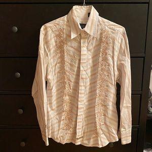 English Laundry lace-detail shirt